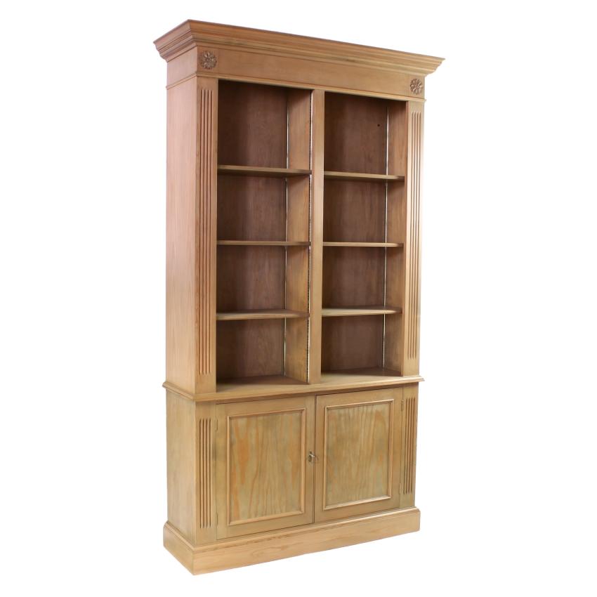 Georgian Design Pine Library Alcove Cabinet Bookcase X Ebay