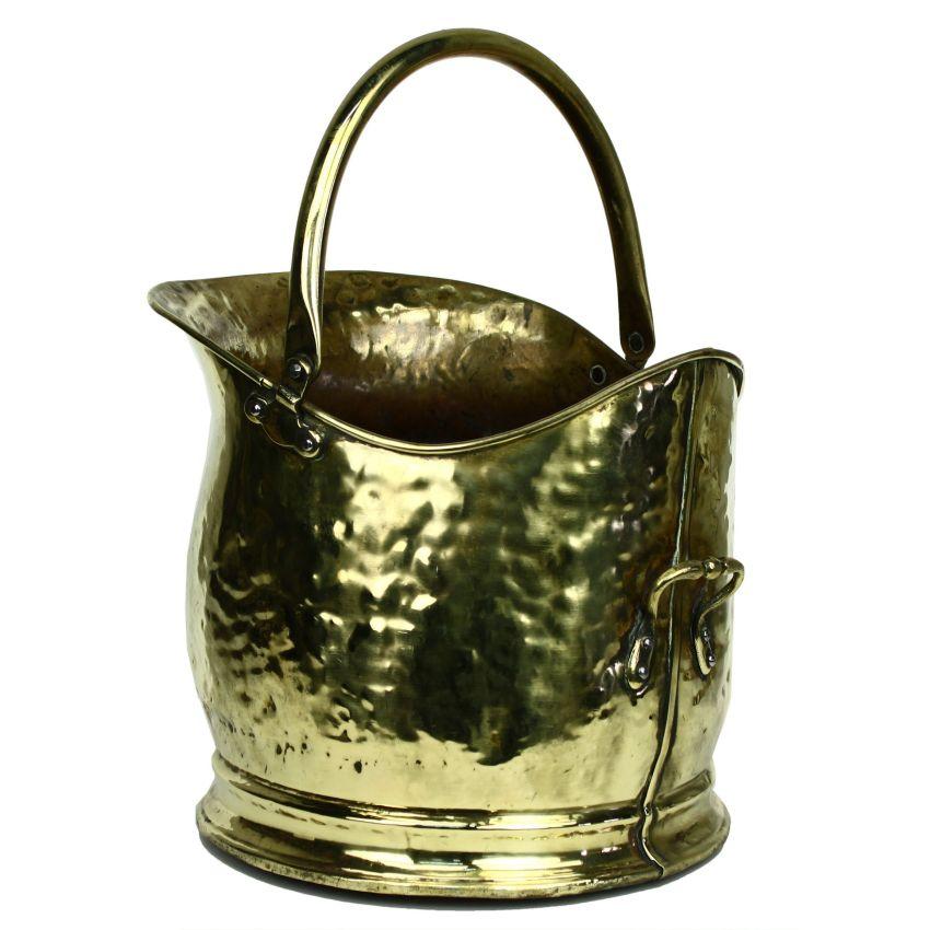 Art deco period brass fireside hearth helmet log coal for Art deco era dates