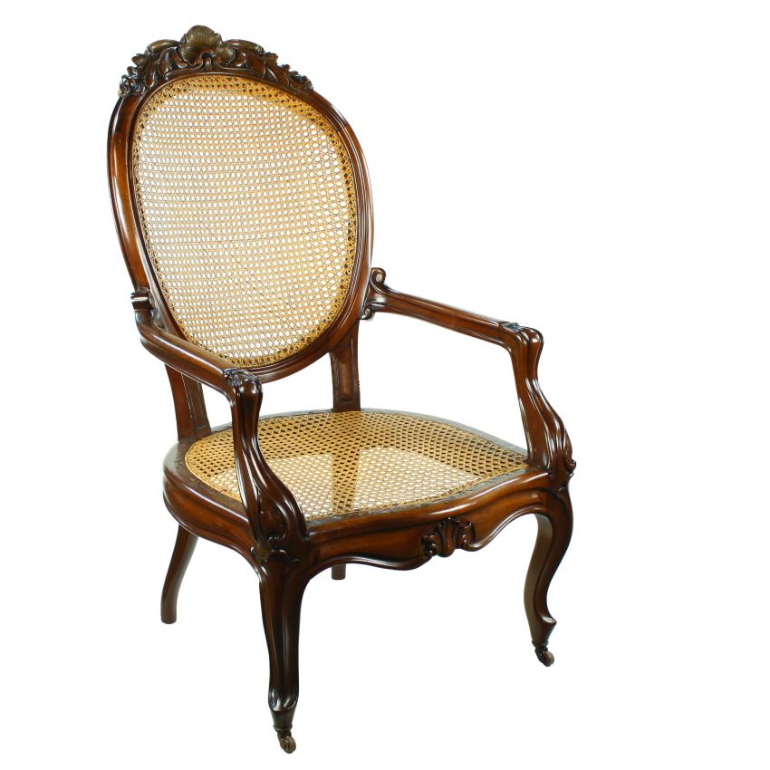 wood library reading fireside armchair chair bergere cane seat and