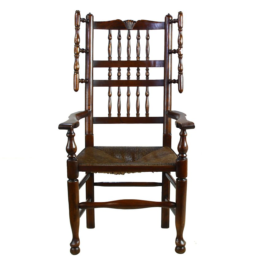 Traditional Lancashire English Country Oak Elm Fireside Carver Armchair Chair: Image 2