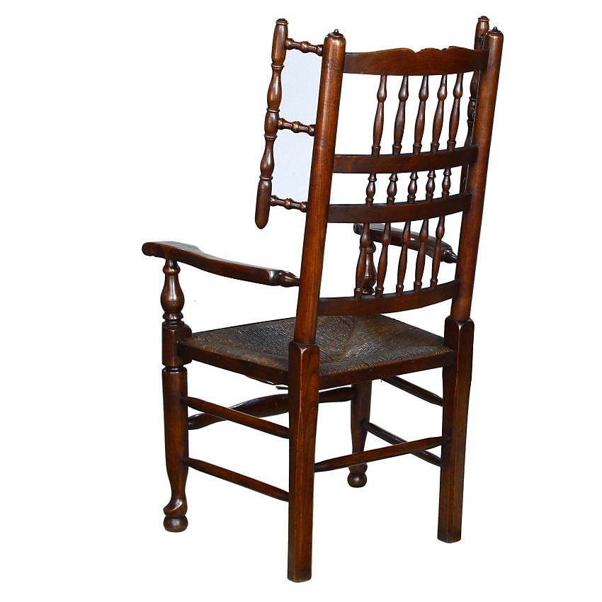 Traditional Lancashire English Country Oak Elm Fireside Carver Armchair Chair: Image 3