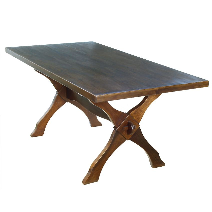Traditional Country Rustic Contemporary Oak X Frame Refectory Dining Table X