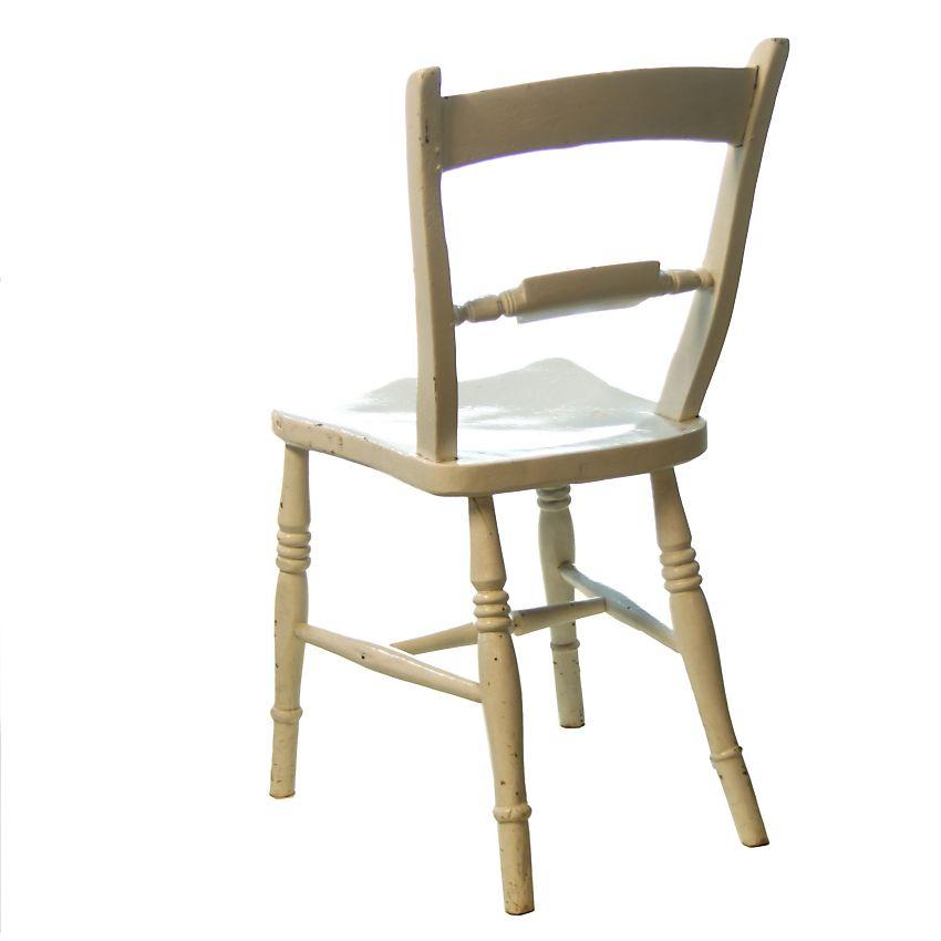 Kitchen Chairs White: Traditional Shabby White Victorian Farmhouse Kitchen Chair