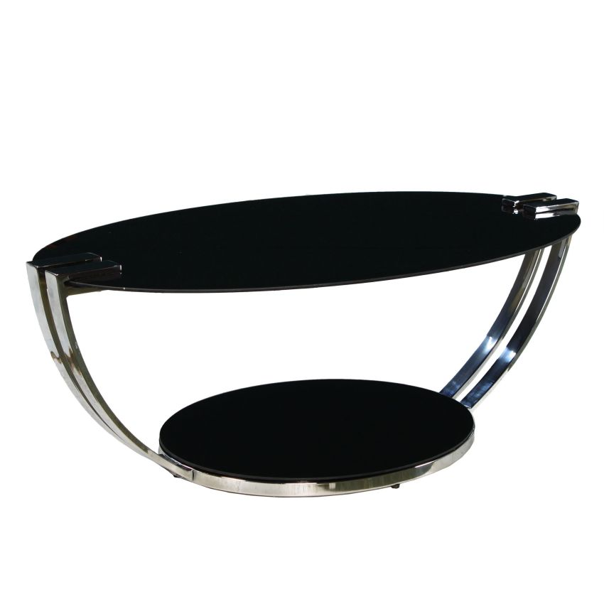 Contemporary Modern Designer Smoked Glass Oval Coffee Occasional Table X Ebay