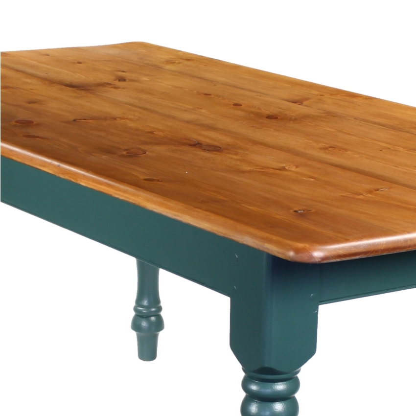 6 foot finished pine kitchen farmhouse dining table x ebay for 10ft dining table