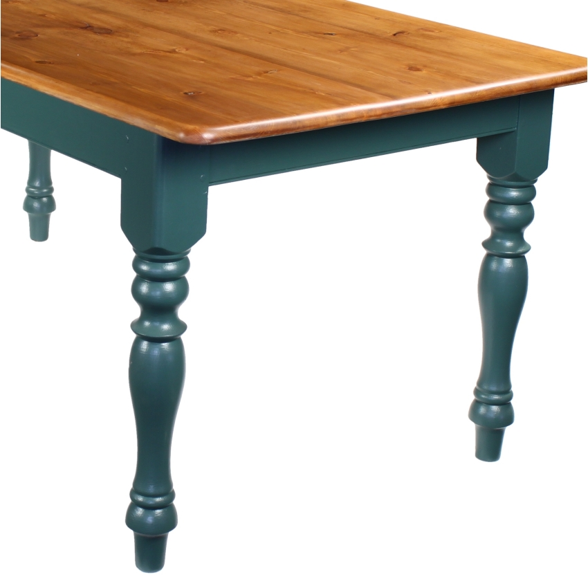 6 foot finished pine kitchen farmhouse dining table x