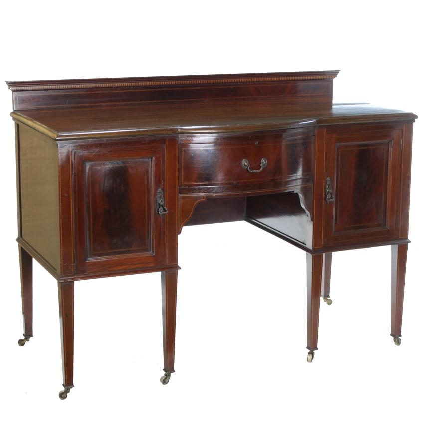edwardian antique sheraton flame mahogany 2 door sideboard. Black Bedroom Furniture Sets. Home Design Ideas